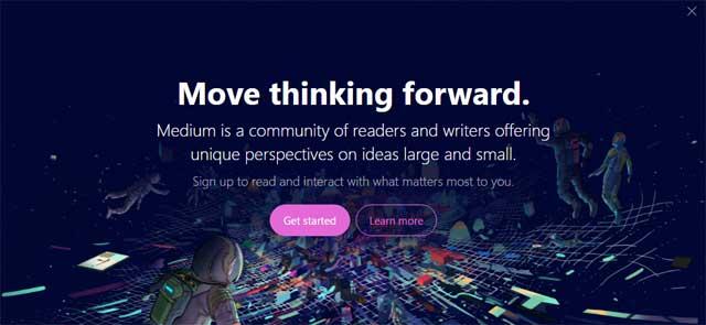 Medium Sign Up Page