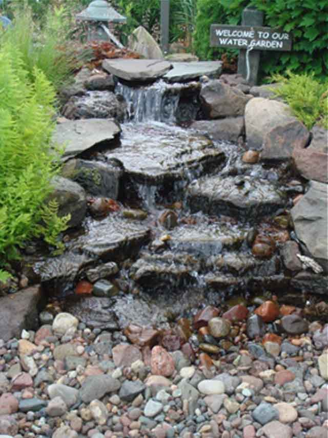Bon Circulating Water Fountain. Rock Garden Fountain