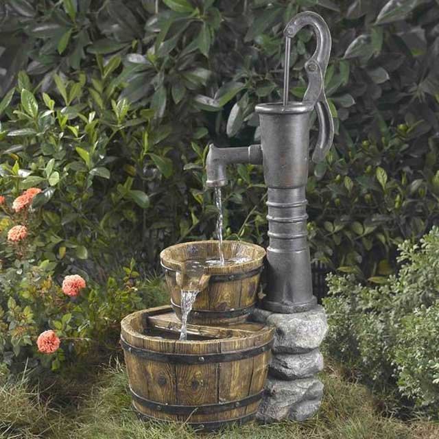 Water-pump fountain