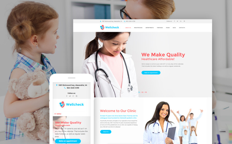 wellcheck-pediatric-clinic-wordpress-theme