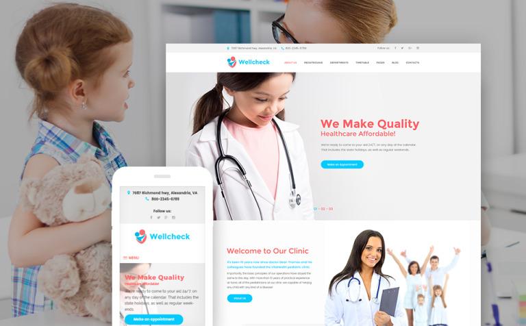 wellcheck-pediatric-clinic-wordpress-theme